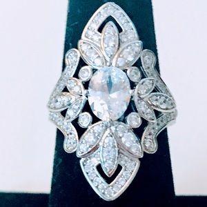 Jewelry - NEW! SPARKLING SWAROVSKI CRYSTAL ART DECO RING